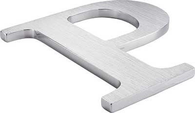 Cast metal letter stainless steel